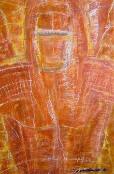Samorai 2, Olie på gips (60x40) 2010 af Svend Christensen