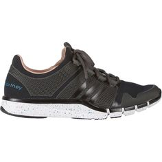 adidas x Stella McCartney Adipure Sneakers (165 BRL) ❤ liked on Polyvore featuring shoes, sneakers, black, black trainers, adidas shoes, rubber shoes, adidas and black lace up sneakers