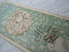 Handmade Vintage Inspired Bookmark  Bird  Hope Your by wkburden, $3.00