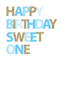 Happy Birthday Sweet One  Blue by inspirationholly on Etsy