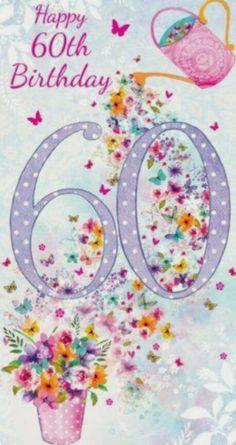 The Number Happy Birthday Meme Happy 60th Birthday Wishes, Birthday Wishes Messages, Happy Birthday Pictures, Birthday Wishes Cards, Birthday Greeting Cards, Art Birthday, Birthday Numbers, Vintage Style, Amazon