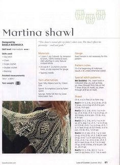 """"""" MOSSITA BELLA PATRONES Y GRÁFICOS CROCHET """": Martina Shawl, Chal a Crochet Precioso!!!"""
