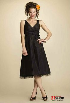 A-line V-neck Taffeta other colors avail. Bridesmaid Dress Style #20402016, Bridesmaid - 21shop.com