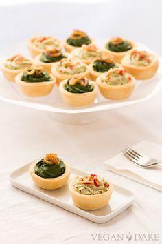 Broccoli and spinach canapes } Vegan Dare