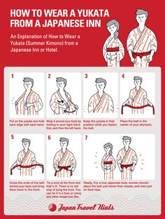 HOW TO WEAR A YUKATA FROM JAPANESE INN Kyoto Japan, Onsen Japan, Japan Japan, Japan Info, Japanese History, Japanese Names, Japanese Culture, Japanese Style, Japanese Etiquette