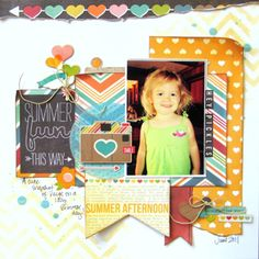"""Missy Whidden July Main kit """"I Heart Summer"""" collection by Simple Stories 2013"""