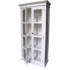 Distressed White Coastal Display Cabinet with 2 Glass Doors by Balmoral Designs. Get it now or find more Display Cabinets at Temple & Webster. Decor, Furniture, Selling Furniture, Cabinet, Furniture Making, Distressed White, Dining Room Wallpaper, Display Cabinet, Light Display