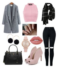 """""""Pink fall"""" by fashionstyleideas4now on Polyvore featuring Versace, Prada, Vivani and Lime Crime"""