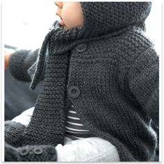 Phildar - Cardigan Baby Dk. Gray - pattern in French
