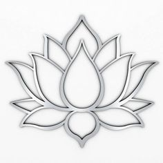 XL Lotus Flower Metal Wall Art with Brushed Metal Finish (measures 48 x Marked by crisp modern lines that only a laser can create, this sacred design is precision cut from high grade stainless steel thats both durable and lightweight.Lotus flowers me Metal Sculpture Wall Art, Metal Sculpture Artists, Contemporary Sculpture, Tree Sculpture, Metal Sculptures, Contemporary Decor, Modern Art, Sculpture Ideas, Abstract Sculpture