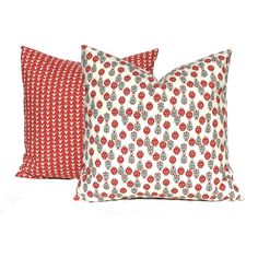 Decorative Pillow Covers Pair of Two Lady Bug Pillow Cover Red Cushion... ($32) ❤ liked on Polyvore featuring home, home decor, throw pillows, decorative pillows, home & living, home décor, silver, red accent pillows, holiday throw pillows and red shams