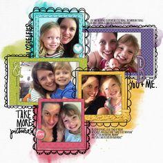 adorable #selfies #scrapbook page by Heather at #designerdigitals