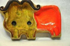 Gli Etruschi ROSENTHAL NETTER ceramic Bull pottery tray