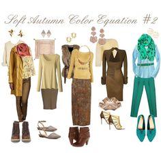 """Soft Autumn Color Equations #2"" by april-ajayya-godsey on Polyvore"