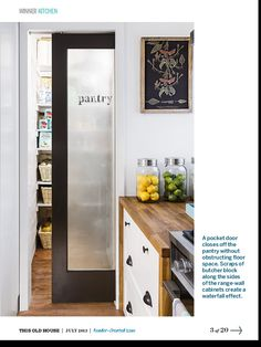 Describing Sliding Pantry Doors As Ideas For Your Home Interior. Find Sliding Pantry Doors And Others About Door, Floor, Table, Or Anything About Home Interior Here Kitchen Pantry Doors, Sliding Pantry Doors, Diy Kitchen, Kitchen Cabinets, Wall Cabinets, Kitchen Pantries, Storage Cabinets, Glass Kitchen, Wall Pantry