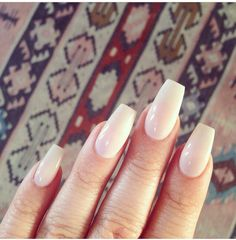 Nude Coffin Shaped Nails #laque