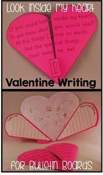 Valentine Writing Activities by The Teacher Gene Valentines Day Activities, Holiday Activities, Valentine Day Crafts, Writing Activities, Valentine Heart, Grief Activities, Teaching Resources, My Funny Valentine, Classroom Crafts
