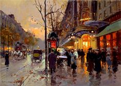 Theatre du Vaudeville - Edouard Cortes. It will take me about 24 lifetimes to paint something like this.
