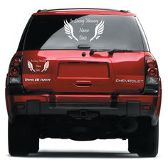 In Loving Memory Decal Car Custom Window Vinyl Sticker with Angel Wings #THESPOT
