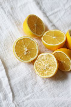 lemons and white linnen