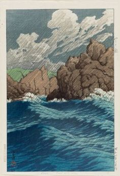 Hachinohe-Same, from the series Collected Views of Japan, Eastern Japan Edition (Nihon fûkei shû higashi Nihon hen), Japanese, Shôwa era, 1933 (Shôwa 8), January  Artist Kawase Hasui, Japanese, 1883–1957, Woodblock print; ink and color on paper, MFA