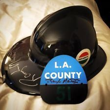 Emergency! Squad 51 Helmet Signed by Randolph Mantooth