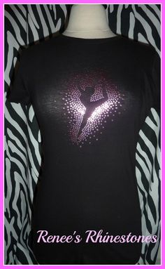 Dance SEQUIN T shirt rhinestone Dance t shirt by RenesRhinestones, $19.99