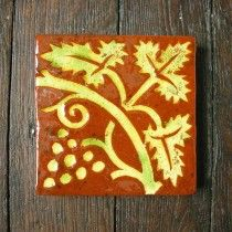 Medieval Style Floor Tile- Grape Vine  ANDREW MC GARVA