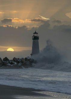 Sundown @ Walton Lighthouse, Santa Cruz, CA Beautiful Places, Beautiful Pictures, Beautiful Scenery, Lighthouse Pictures, Belle Photo, Beautiful Landscapes, Places To Visit, Around The Worlds, Lighthouses