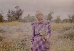 I love her dress and the pasture and the flowers...everything.