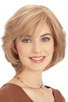 Vintage Hairstyles Curls Human Hair Wigs for Sale, Best Human Hair Wigs, Realistic Wigs for Men - If you're looking for Human Hair Wigs for Sale, HoWigs is the perfect choice. Order Human Hair Wigs at professional online shop. Vintage Hairstyles, Bob Hairstyles, Straight Hairstyles, Haircuts, Chin Length Hairstyles, Layered Hairstyles, Natural Hairstyles, Summer Hairstyles, Short Hair With Layers
