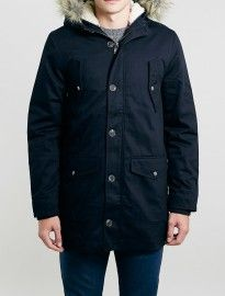 Topman Navy Heavyweight Parka