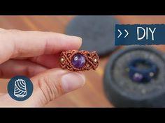 Makramee RING 💍 Anleitung - YouTube Macrame Jewelry Tutorial, Diy Jewelry, Jewelery, Jewelry Design, Jewelry Making, Macrame Colar, Macrame Rings, Macrame Bracelets, Micro Macramé