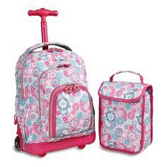 Set 2 Bags School Lollipop Kids' Rolling Backpack Lunch Bag Blue Raspberry for sale online Girls Rolling Backpack, Rolling Bag, Fancy Water Bottles, Backpack With Wheels, Kids Clothing Brands, Trolley Bags, Backpack Reviews, Girl Backpacks, Wheeled Backpacks