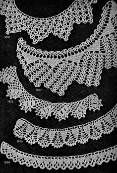 Crochet Edging Patterns for Gifts Nos. 1871 to 1880 originally published in Star Book of 100 Edgings