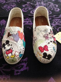 Disney shoes on Etsy, $111.42 CAD