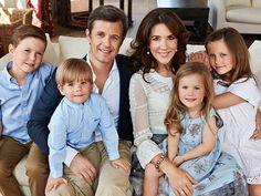 Prince Christian, Prince Vincent, Crown Prince Frederik, Crown Princess Mary, Princess Josephine & Princess Isabelle of Denmark