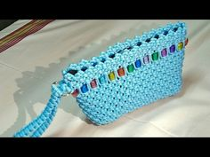 DIY Macrame ladies purse | macrame clutch | with Sewing pocket tutorial - YouTube
