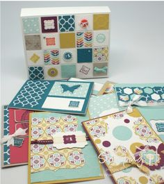 Stampin' Up! Stamping T! - One Sheet Cards and Box