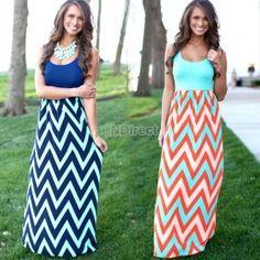 Summer Beach Casual Women Sleeveless Splice High Waist Stretch Stripe Split Maxi Dress
