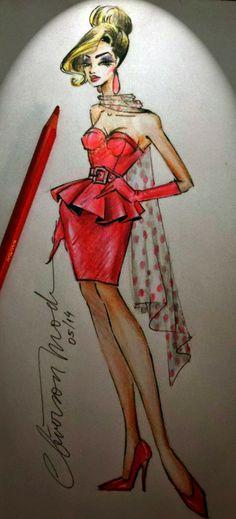 DESENHOS DE MODA: Desenhos de Moda. Look vermelho total.