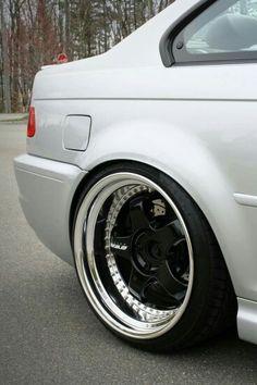 BMW E46 3 series silver deep dish