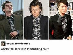 HOLY CRAP I JUST SAW P!ATD AND THOUGHT I RECOGNIZED THAT SHIRT