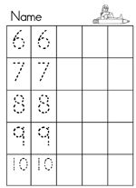 Pre-k/Kindergarten Math Worksheets... love it!