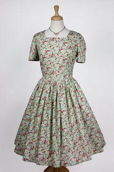 Floral Cotton 1950s Dress