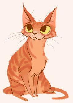 "253: Orange Tabby. If I were a cat...I have a feeling this would be what I would look like. Tiny ""hands"", big eyes. A little top heavy. Yup. It's me in kitten form."