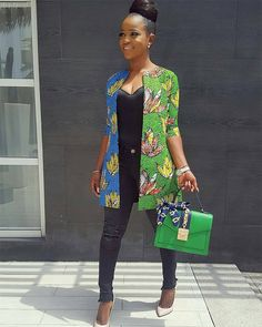 """from - Our CEO Rocking our New collection """"Nini's Stoned Ankara Kimono"""" She rocks.Queen of African Fabric (QAF) All sizes available on order Whatsapp 09080555598 or send a DM to place orders Prints available in different colours Lovely Bag from - African Fashion Designers, African Inspired Fashion, African Print Fashion, Africa Fashion, African Print Dresses, African Fashion Dresses, African Dress, African Prints, Ankara Fashion"""