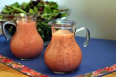 Two Raspberry Salad Dressings--Raspberry Vinaigrette and Raspberry Poppy Seed