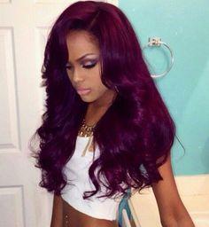 Fuchsia colored hair.....