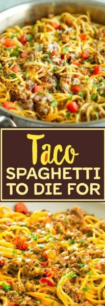 Beef Dishes, Pasta Dishes, Food Dishes, Main Dishes, Taco Spaghetti, Spaghetti Squash, Spaghetti Recipes, Spaghetti Noodles, Spaghetti Casserole